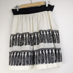 Anthropologie Girls from Savoy Tassel Tool Skirt